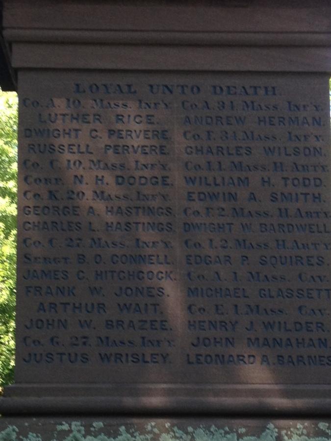 List of Deerfield inhabitants that served during the American Civil War