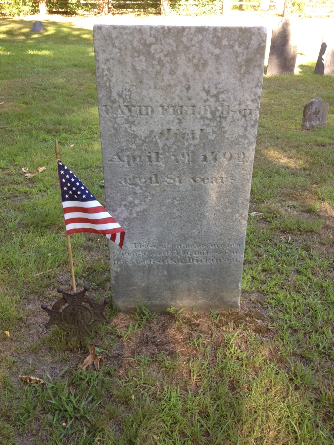 Gravesite of David Fredle, a veteran patriot of the American Revolution