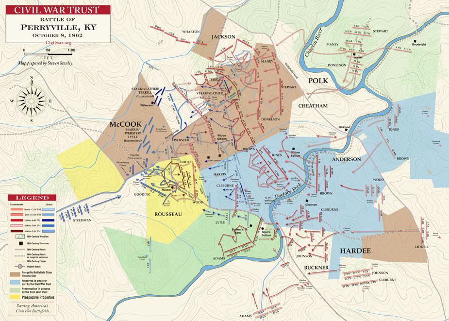 Battle of Antietam Map Map of Battle of Perryville