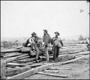 Confederate soldiers near Gettysburg