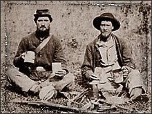 A real Johnny Reb & Billy Yank, Sharing Cpffee