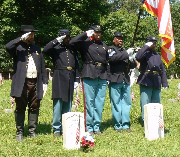 The 23rd USCT at the Fredericksburg National Cemetery. 2013