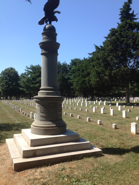 The monument placed in memory of the U.S. Regulars--Infantry & Artillery--who fell at Stones Ribver