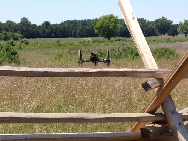 To the Guns! Confederates broke through to this field, but the opposite ridge could not be taken