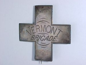 Sixth Corps Badge from a member of the Vermont Brigade. Photo courtesy of Vermont in the Civil War.