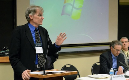 Historian David Blight speaks at the conference