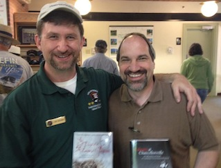 "Me and Dr. Matthew Lively, author of ""Calamity at Chancellorsville,"" which challenges Bob Krick's traditional interpretation of the wounding of Stonewall Jackson"