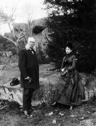 John Bachelder and his wife Elizabeth at Gettysburg in 1890