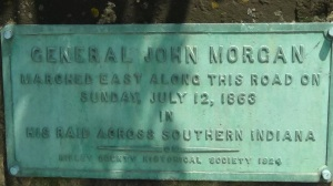 Morgan's Raiders Marker  outside of Sunman, IN