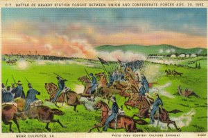 Postcard of the Battle of Brandy Station