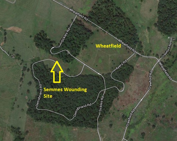Semmes Wounding Map