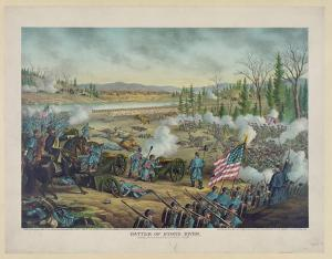 The Battle of Stones River. Courtesy of the Library of Congress.