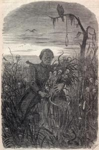 "Harper's Weekly Depiction of Jefferson Davis ""Reaping the Harvest"""