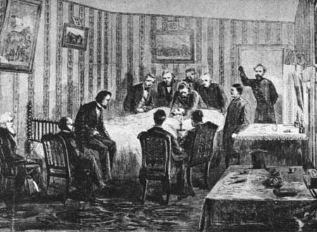 John Hay at Lincoln's Deathbed
