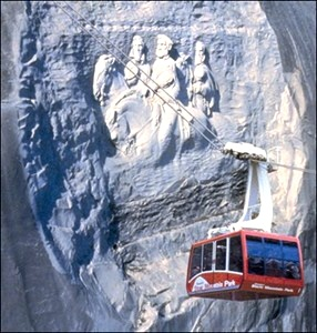 Stone Mountain snowfall