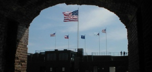 all the flags ever flown over Fort Sumter