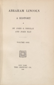 the frontispiece of Hay and Nicolay's book