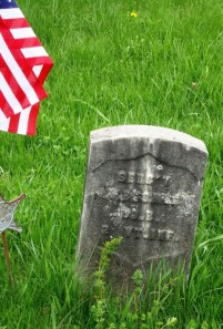 Sergeant James W. Bromley, 2nd Vermont, buried at Read Cemetery, Danby, Vermont
