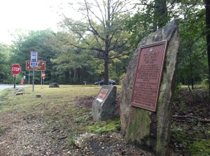 The 12th New Jersey Monument near Longstreet's objective, the Brock Road/Plank Road Intersection