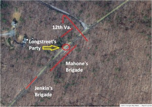 Longstreet Wounding Map