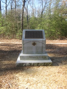 A monument stands today on the Cold Harbor battlefield honoring the courage of the Second Connecticut Heavy Artillery.