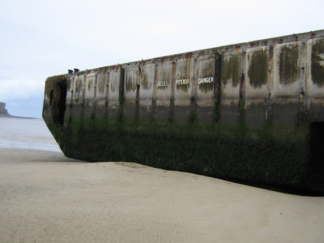 Remains of the Mulberry Harbour on GOLD Beach.