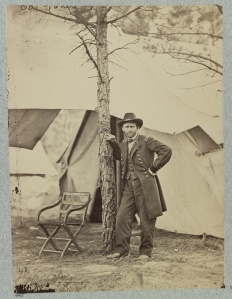 One of the most enduring images of Grant. Taken while on the battlefield of Cold Harbor. Courtesy of the Library of Congress.