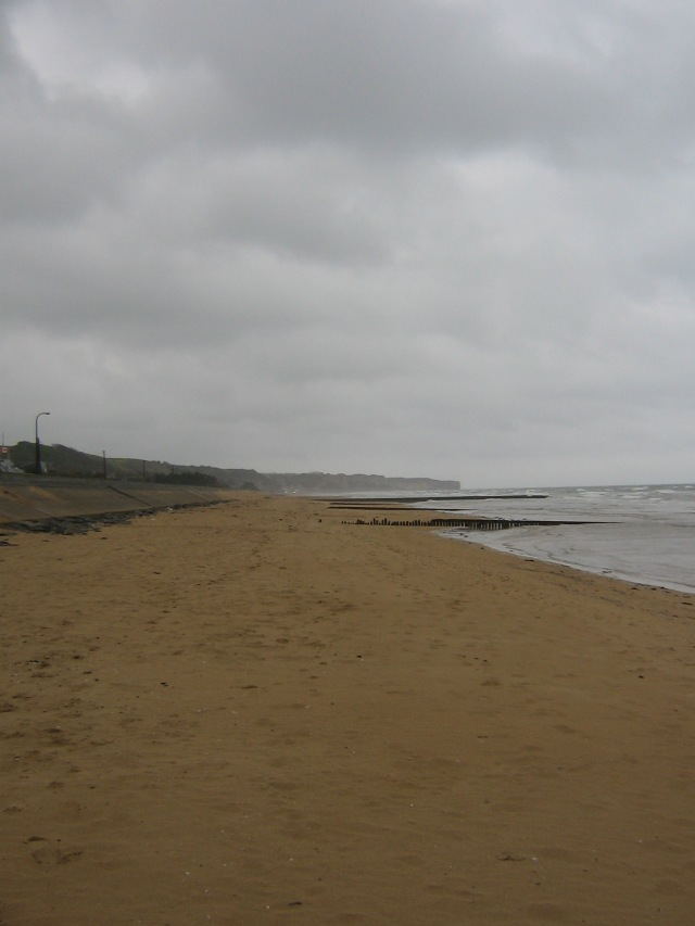 Dog Red Sector of OMAHA Beach. Here is where Company F. 116th Infantry Regiment, 29th Division came ashore at 0630.