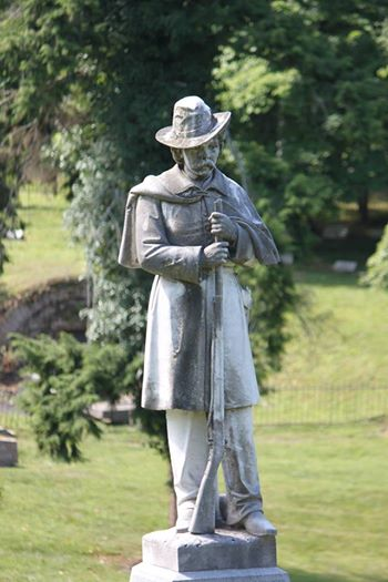 The Confederate Monument at Frankfort Cemetery