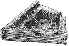 A model of a shoupade