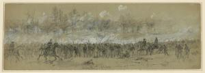 The Battle of Third Winchester. Courtesy of the Library of Congress.