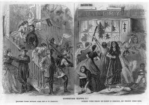 The Richmond Bread Riot. Courtesy of the Library of Congress.