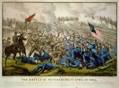 Currier & Ives - The Battle of Petersburg