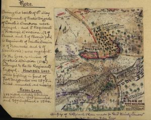 Robert Knox Sneden's Plan of Fort Magruder. Battlefield of Williamsburg. Sketched the day after the battle, May 6, 1862. Courtesy of the Library of Congress