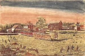 Firing on Lexington Common by Ralph Earl, Connecticut Historical Society