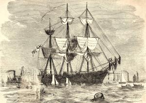 Shenandoah in Hobson's Bay, February 1865 (State Library of Victoria, Melbourne)