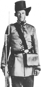 Valerius Cincinnatus Giles upon enlistment in the 4th Texas Infantry.