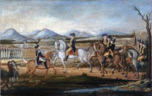 """Attributed to Frederick Kemmelmeyer: Washington Reviewing the Western Army, at Fort Cumberland, Maryland"" (63.201.2) In Heilbrunn Timeline of Art History . New York: The Metropolitan Museum of Art, 2000–. http://www.metmuseum.org/toah/works-of-art/63.201.2. (May 2009)"