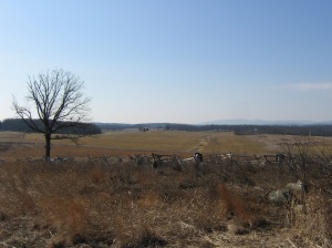 Looking South Towards the McPherson Farm from Oak Hill