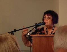 Meg Thompson spoke at the 2014 ECW Symposium at Stevenson Ridge on the Election of 1864.