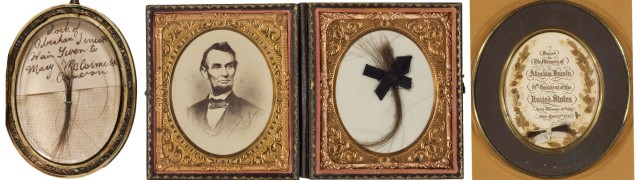 Locks of Lincoln's hair became a coveted keepsake among friends and family, and several in attendance of his passing cut pieces as keepsakes