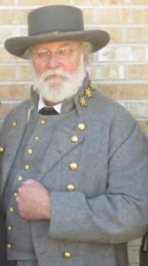 Gen. Robert E. Lee as portrayed by Tom Schobert