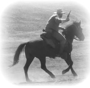 Confederate Cavalryman taken by Sarah Kay Bierle at the Moorpark Civil War Reenactment, 2014.