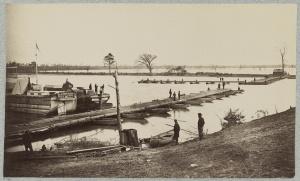 Pontoon Bridge at Deep Bottom. Courtesy of the Library of Congress.