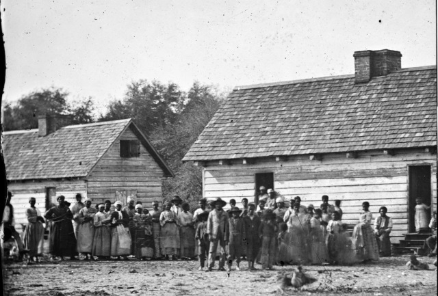 Photograph taken by Timothy O'Sullivan at Smith's Plantation in the Sea Islands.
