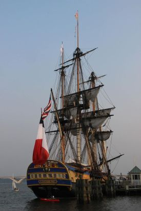 The French ship, L'Hermoine, in Alexandria, Virginia harbor