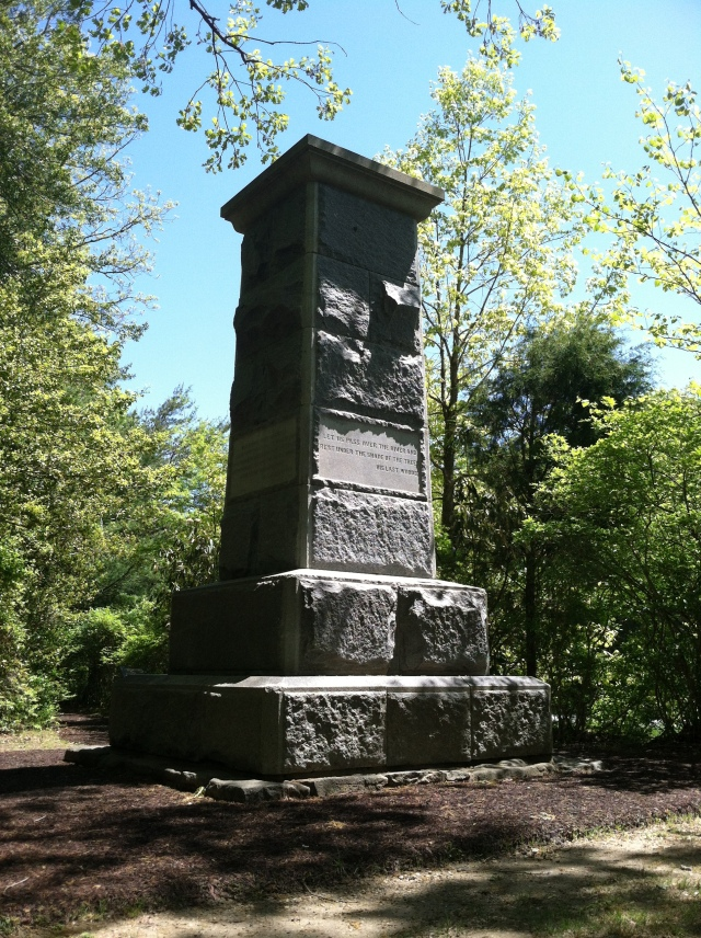 "While the monument to Jackson's wounding declares itself to mark ""the spot,"" it actually marks only the vicinity. The spot itself is less than seventy yards away along the old Mountain Road."