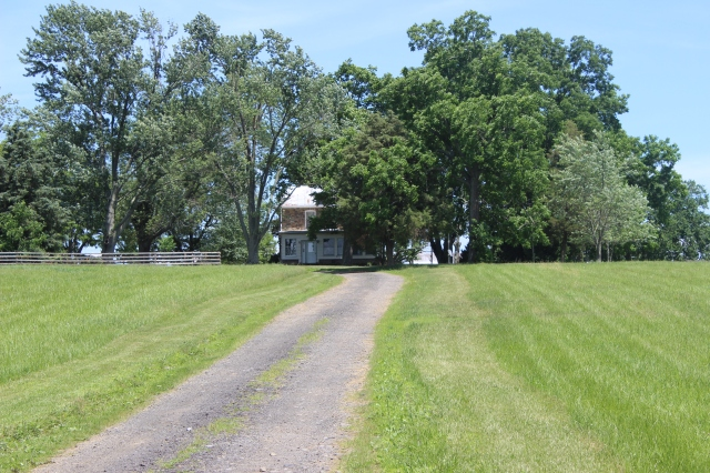 Modern view and house at Auburn. The 1862 dwelling stood directly beneath (in the forefront of this picture) of the modern house. Garden was adjacent on the south side. (Information from Ewell biography by Donald Pfanz)