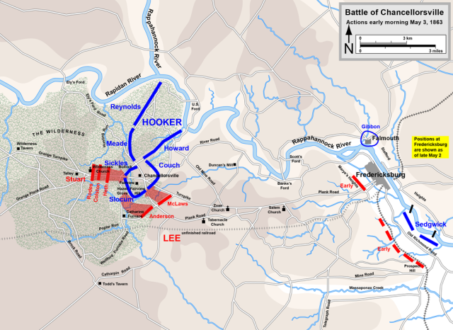 Map of the third days action at Chancellorsville. Map by Hal Jespersen, www.cwmaps.com