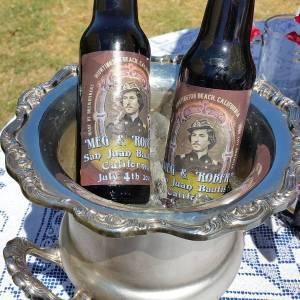 root beer in silver urn